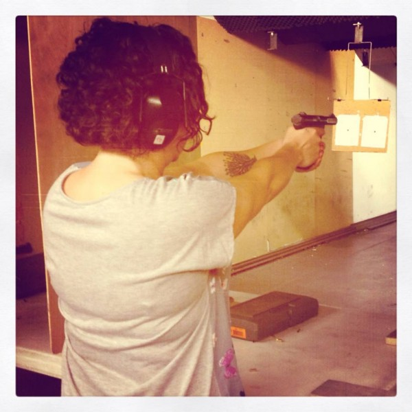 That's me shooting a Ruger 22/45
