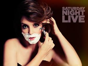 Tina Fey Shaving