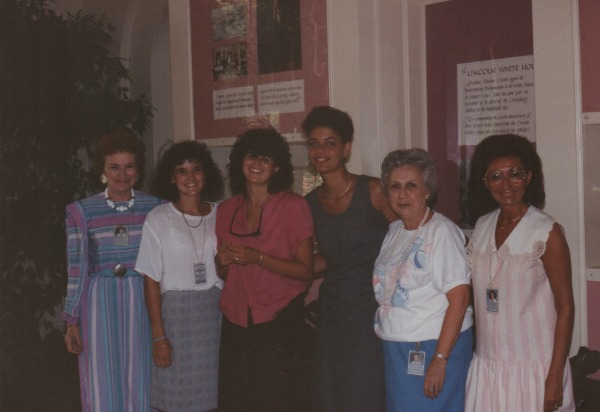 Evelyn {my boss!}, me, Jodi, Lani, Carolyn & Lois {1988}