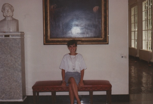 That's me - somewhere in the White House.