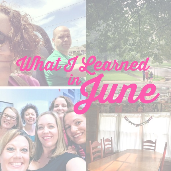 what i learned june 2015
